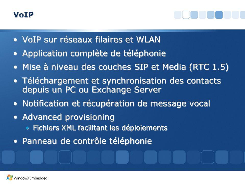VoIP VoIP sur réseaux filaires et WLANVoIP sur réseaux filaires et WLAN Application complète de téléphonieApplication complète de téléphonie Mise à ni