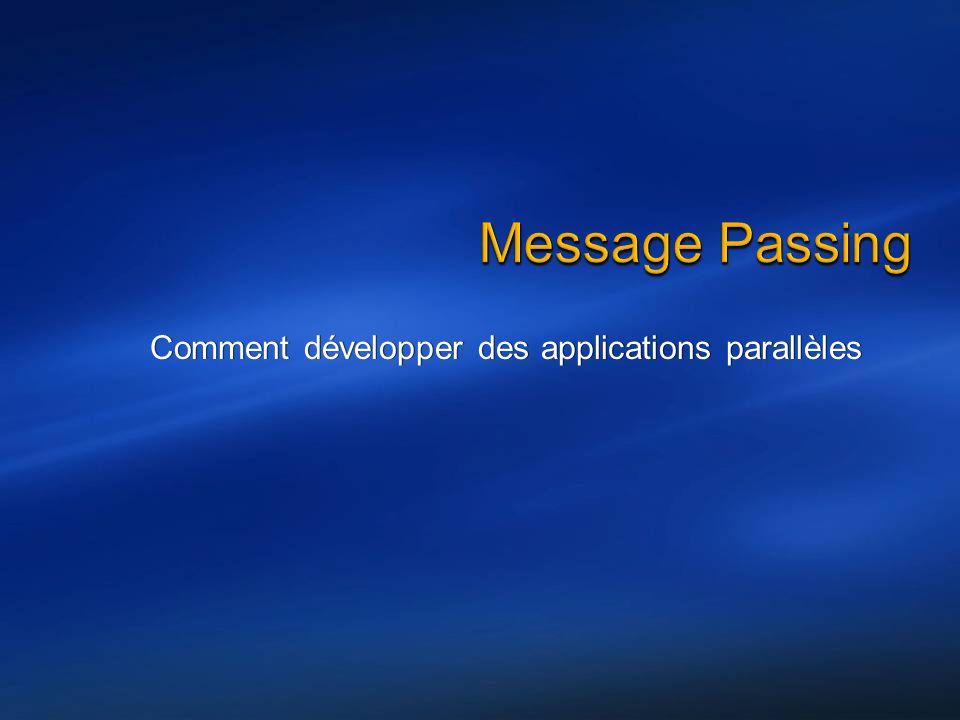 Comment développer des applications parallèles
