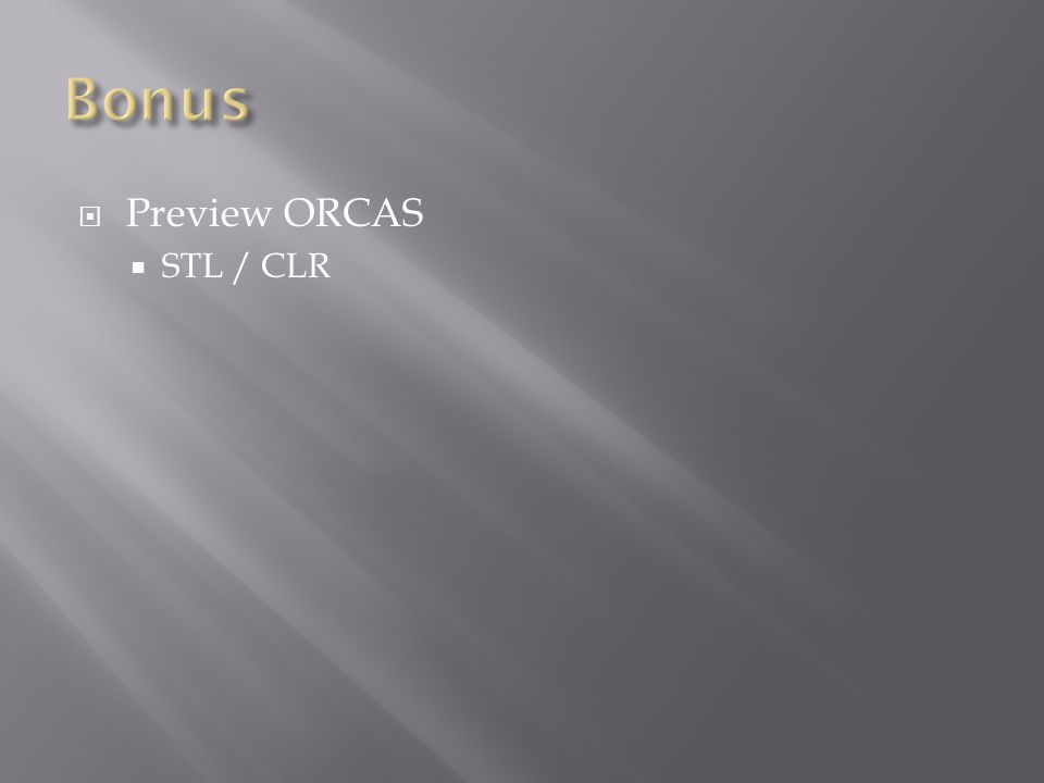 Preview ORCAS STL / CLR