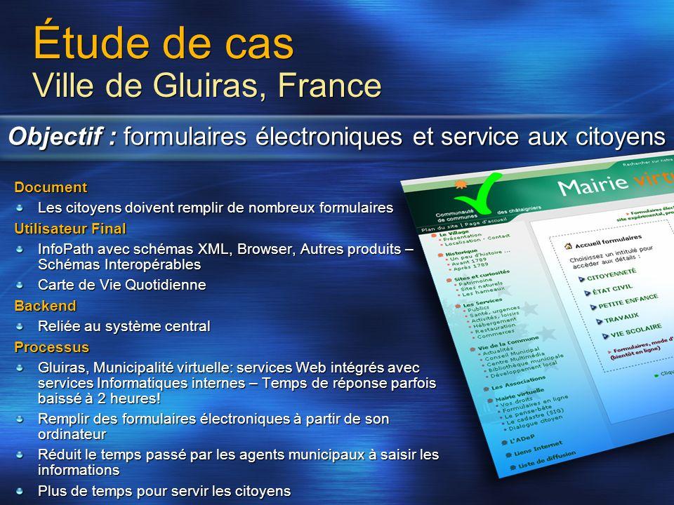 Étude de cas Ville de Gluiras, France Objectif : formulaires électroniques et service aux citoyens Document Les citoyens doivent remplir de nombreux f