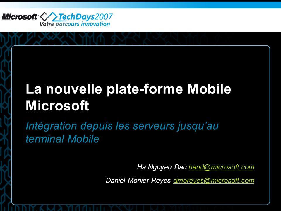 Démo Services de Mobilité Microsoft Exchange 2007