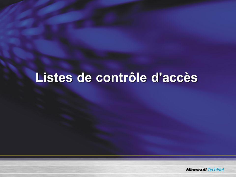 Listes de contrôle d accès