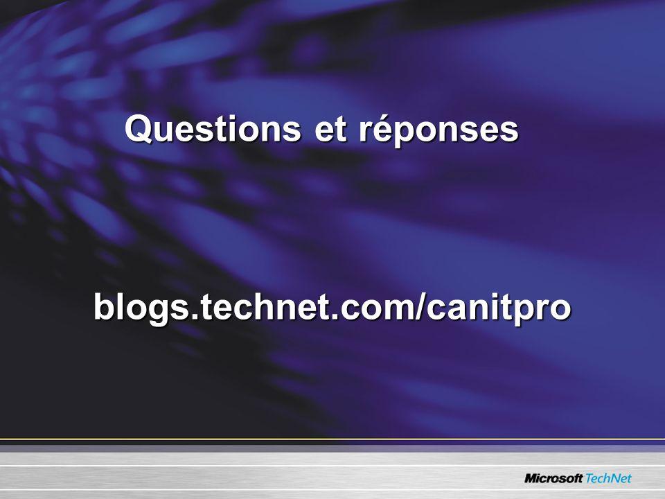 Questions et réponses blogs.technet.com/canitpro