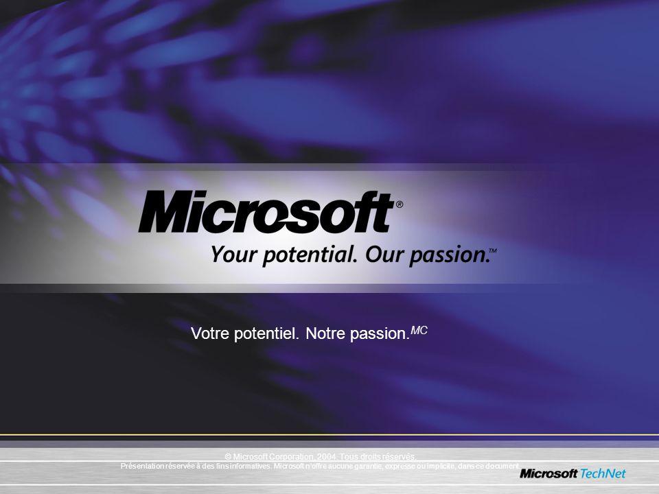 © Microsoft Corporation, 2004. Tous droits réservés.