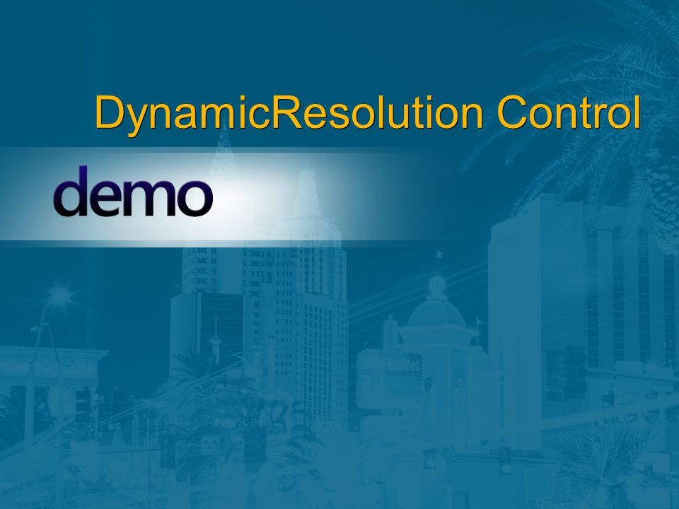 DynamicResolution Control