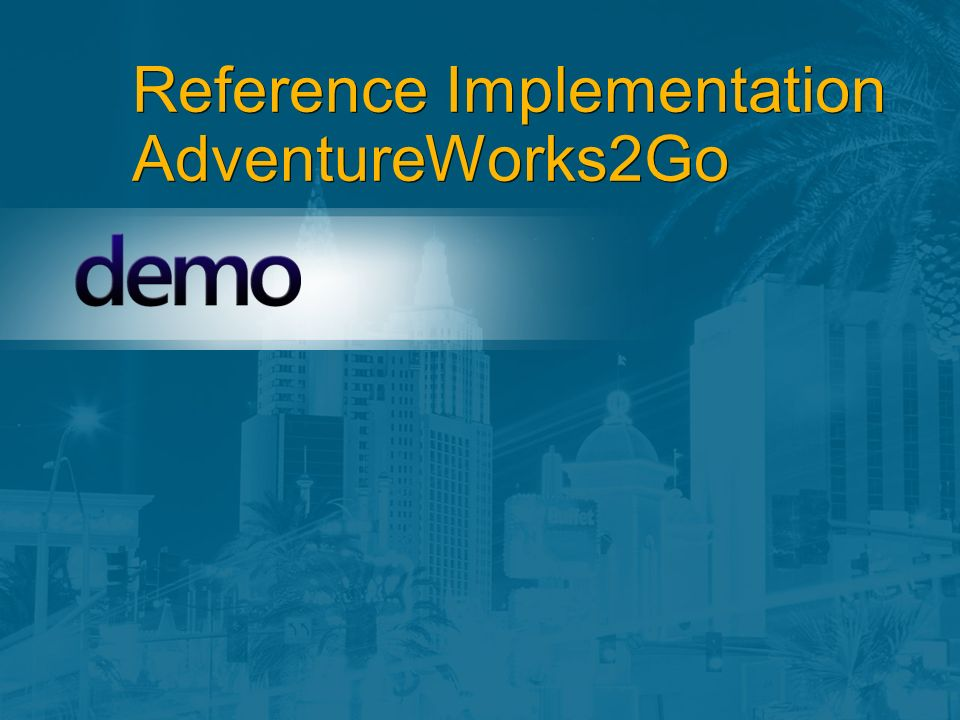 Reference Implementation AdventureWorks2Go