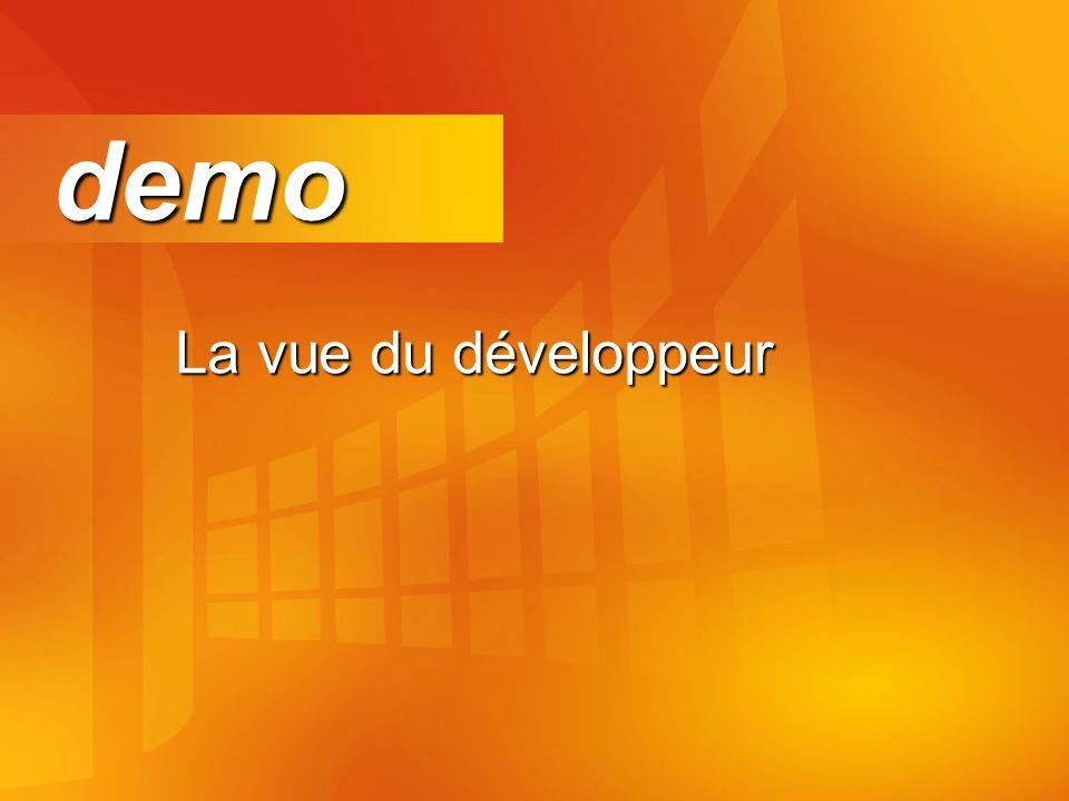 La vue du développeur demo demo