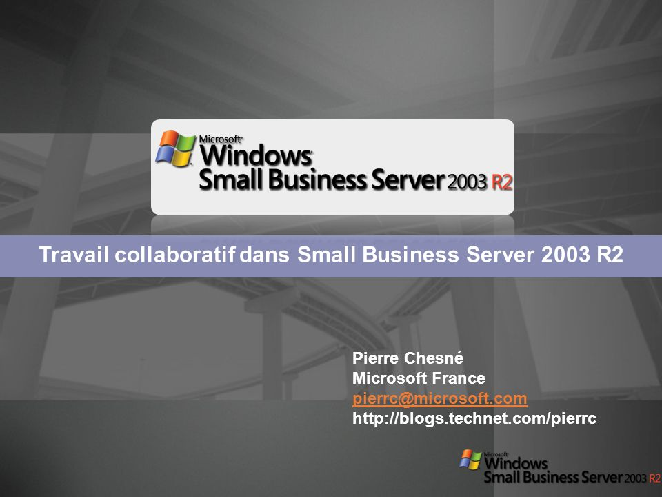 Installation Windows SharePoint 3.0 dans lenvironnement Small Business Serveur