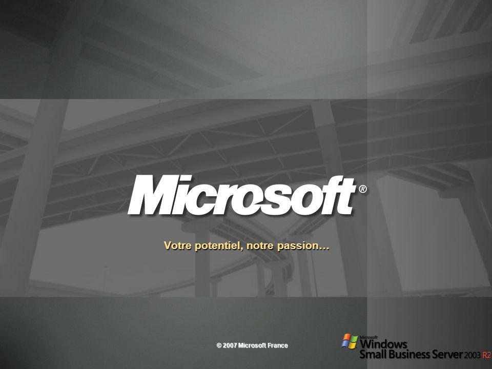 Votre potentiel, notre passion… © 2007 Microsoft France