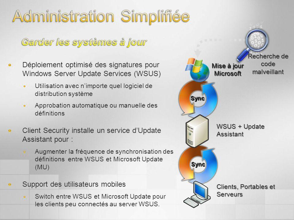 Déploiement optimisé des signatures pour Windows Server Update Services (WSUS) Utilisation avec nimporte quel logiciel de distribution système Approba