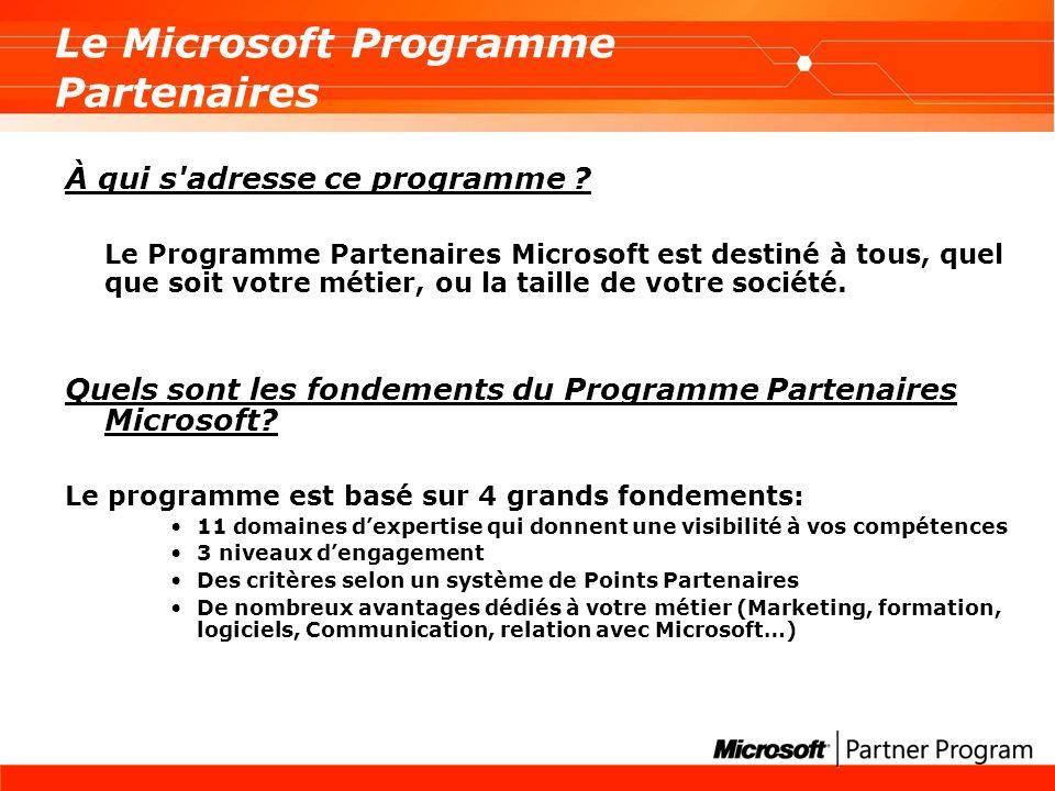 Le Microsoft Programme Partenaires À qui s adresse ce programme .