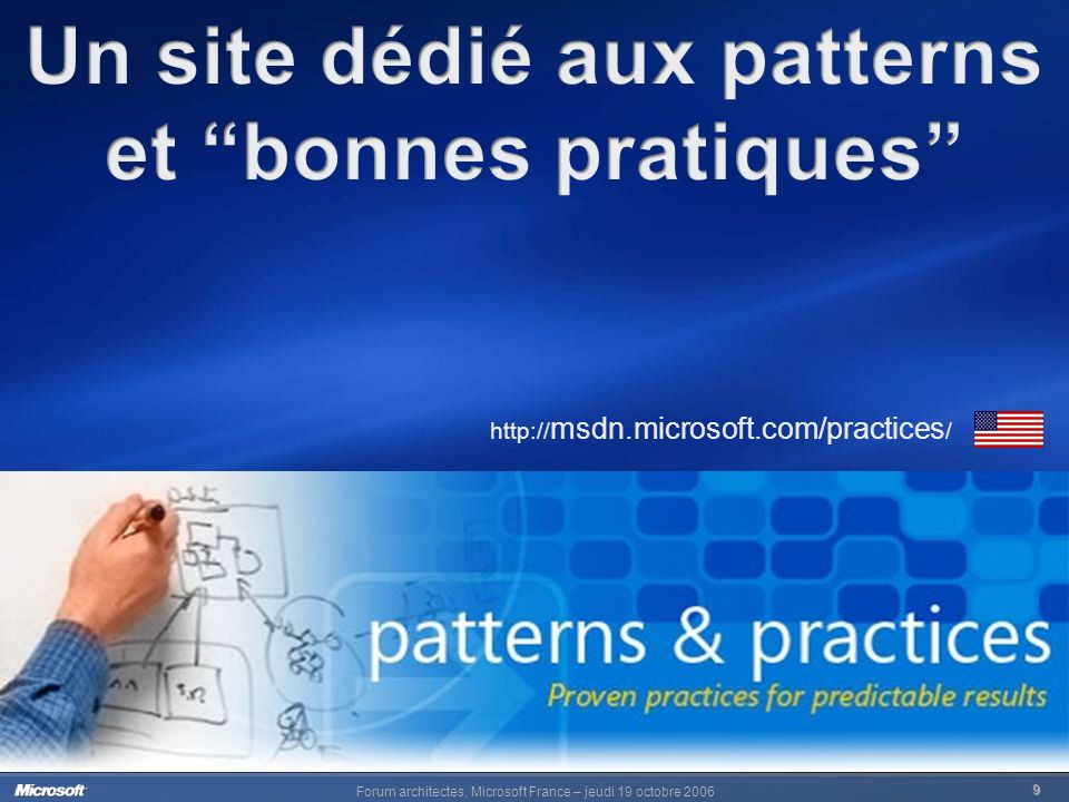 Forum architectes, Microsoft France – jeudi 19 octobre 2006 10 http://www.microsoft.com/france/msdn/architects/default.mspx