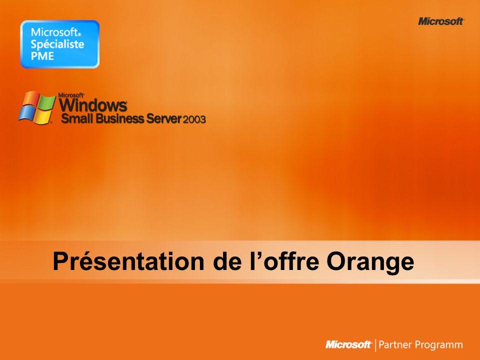 Présentation de loffre Orange