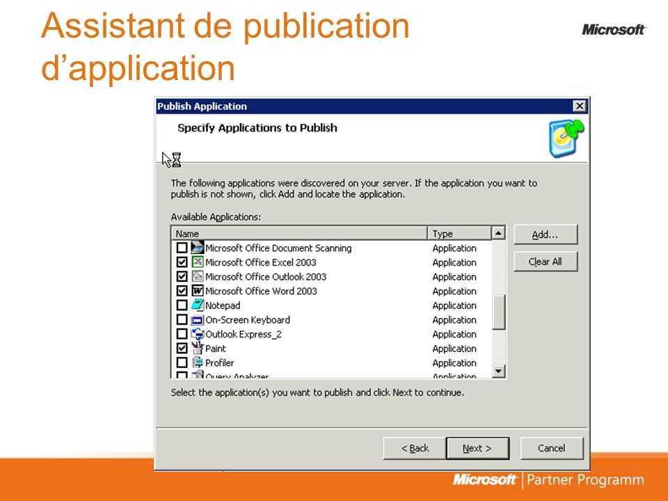 Assistant de publication dapplication
