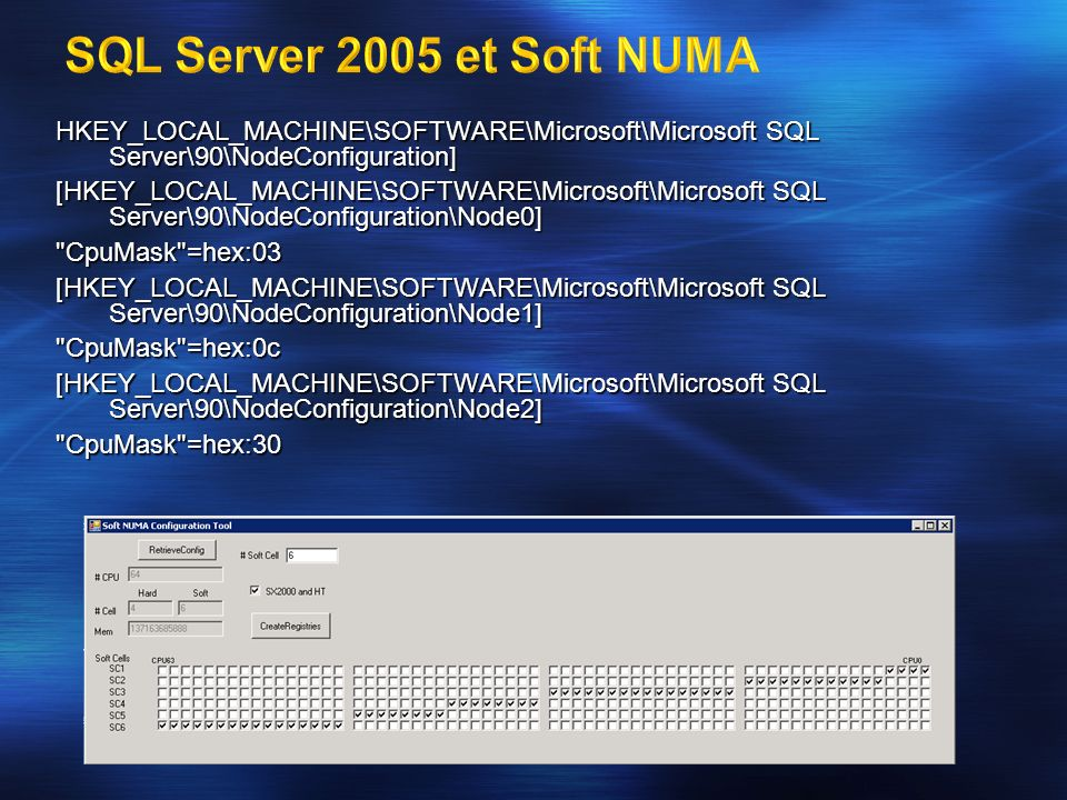 HKEY_LOCAL_MACHINE\SOFTWARE\Microsoft\Microsoft SQL Server\90\NodeConfiguration] [HKEY_LOCAL_MACHINE\SOFTWARE\Microsoft\Microsoft SQL Server\90\NodeCo