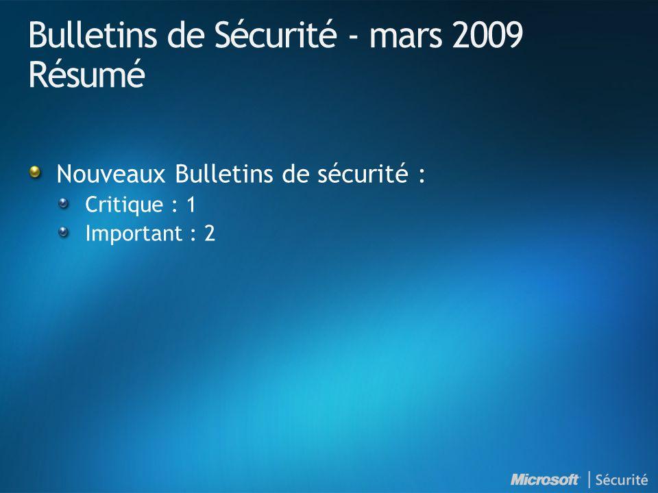 Mars 2009 - Mises à jour non relatives à la sécurité ArticleTitreDistribution KB905866Update for Windows Mail Junk E-mail Filter (mise à jour de mars 2009) Catalogue, AU, WSUS