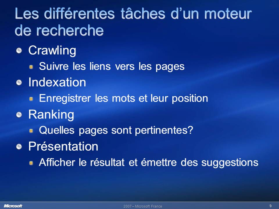 2007 – Microsoft France 30 30