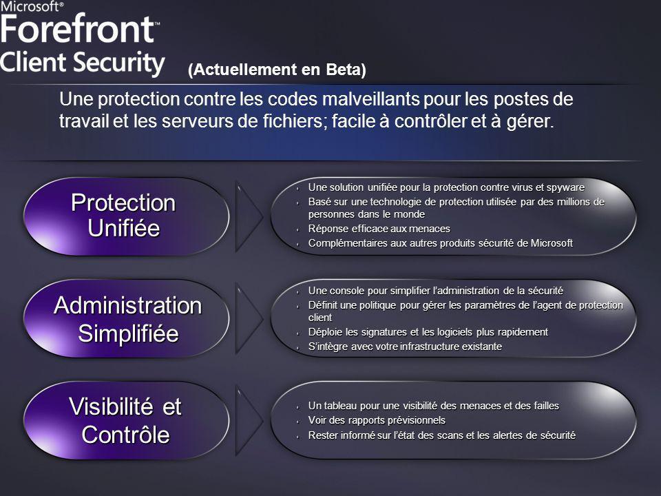 Une solution unifiée pour la protection contre virus et spyware Basé sur une technologie de protection utilisée par des millions de personnes dans le