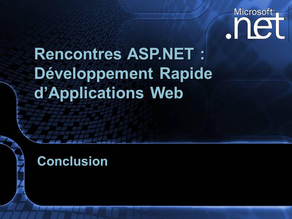 Conclusion Rencontres ASP.NET : Développement Rapide dApplications Web