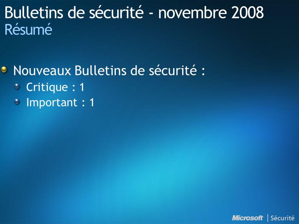 Windows Malicious Software Removal Tool Ajoute la possibilité de supprimer : Win32/FakeSecSen Win32/Gimmiv Disponible en tant que mise à jour prioritaire sous Windows Update et Microsoft Update : Disponible par WSUS 2.0 et WSUS 3.0 Disponible en téléchargement à l adresse suivante : http://www.microsoft.com/france/securite/malwareremove