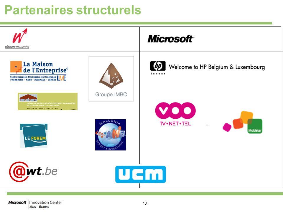 13 Partenaires structurels
