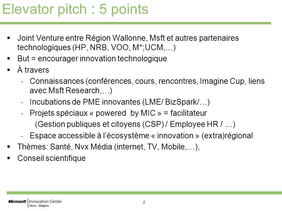 3 Concept Asbl commune entre la Région Wallonne et Microsoft.