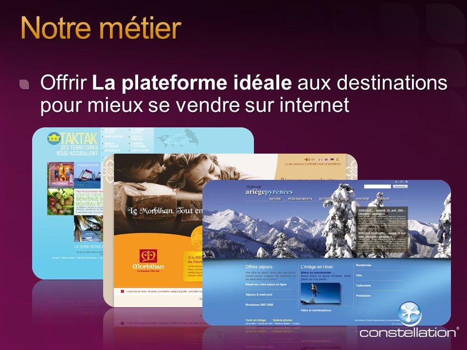 Offrir La plateforme idéale aux destinations pour mieux se vendre sur internet