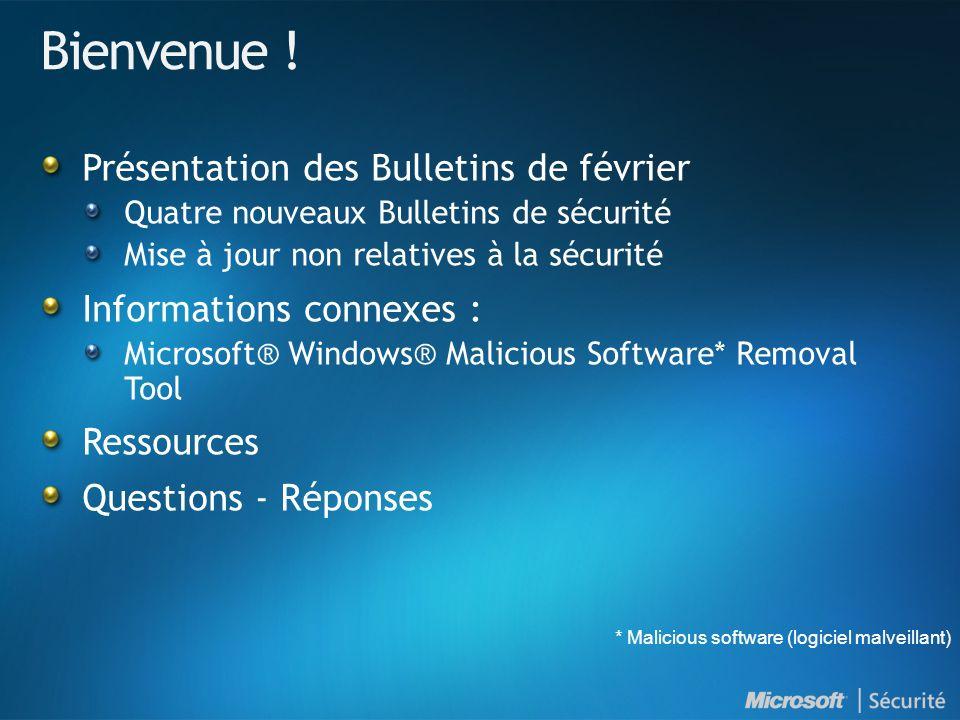 MS09-004 : Une vulnérabilité dans Microsoft SQL Server pourrait permettre l exécution de code à distance (959420) - Important VulnérabilitéUne vulnérabilité d exécution de code Vecteurs d attaque possibles Un attaquant pourrait créer une requête qui appelle la procédure stockée vulnérable.