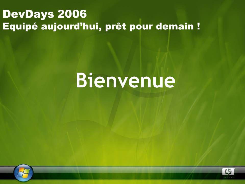 DevDays 2006 Equipé aujourdhui, prêt pour demain ! Bienvenue