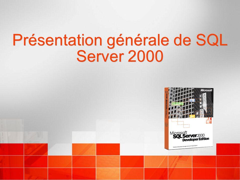 Présentation générale de SQL Server 2000