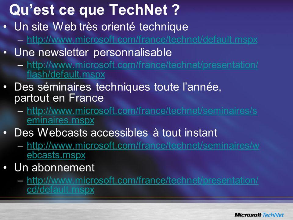 Quest ce que TechNet .