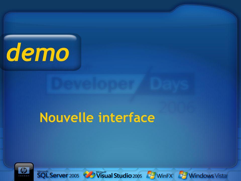Nouvelle interface demo