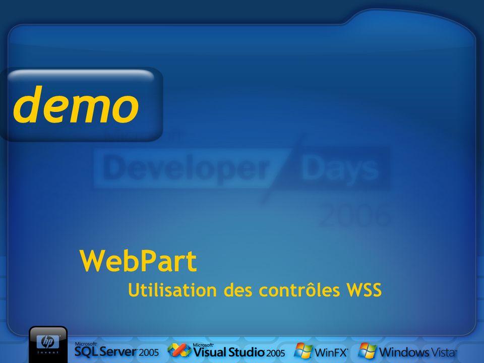 WebPart Utilisation des contrôles WSS demo