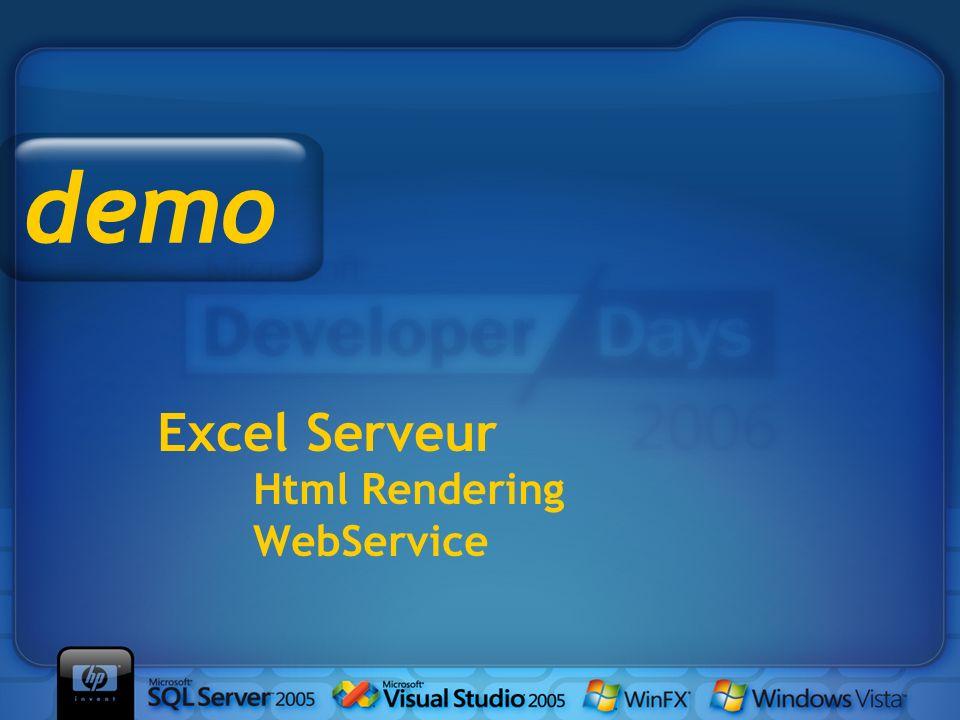 Excel Serveur Html Rendering WebService demo