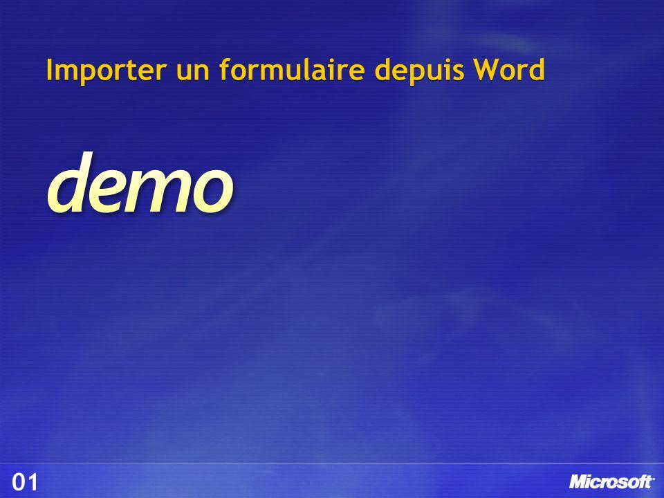 Importer un formulaire depuis Word 01