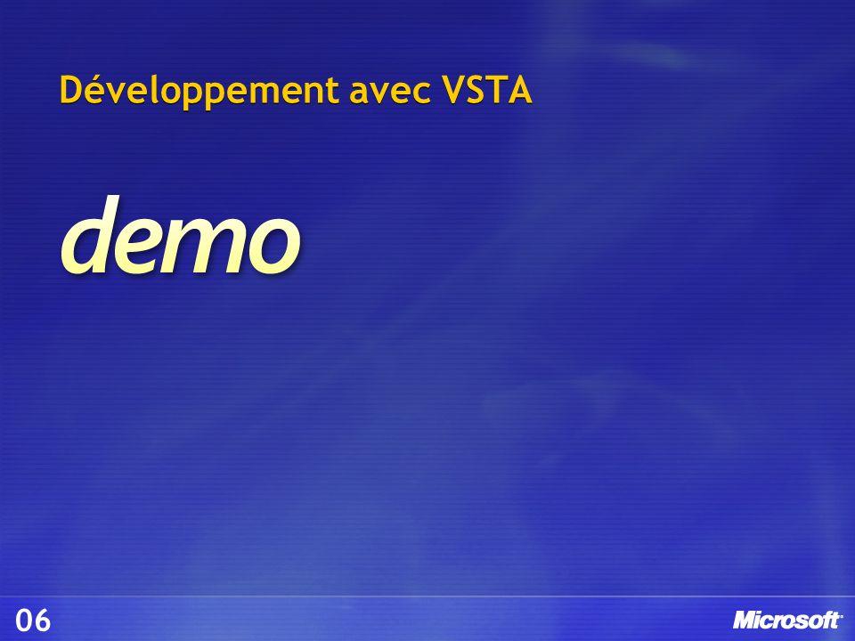 Développement avec VSTA 06