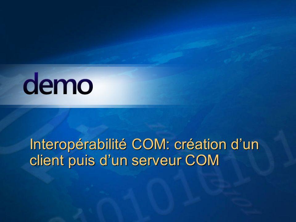 Démo Interopérabilité COM: création dun client puis dun serveur COM