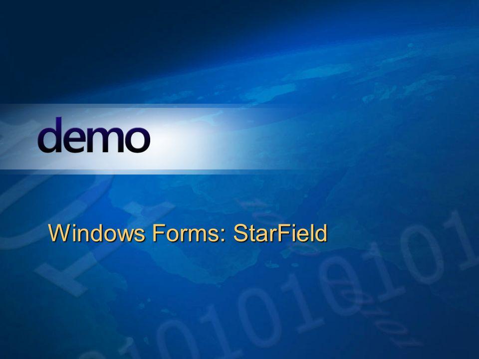 Démo Windows Forms: StarField