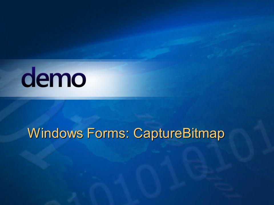 Démo Windows Forms: CaptureBitmap