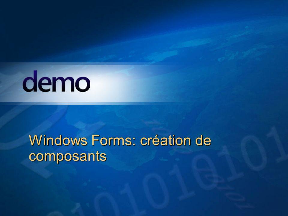 Démo Windows Forms: création de composants