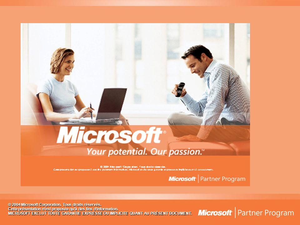 © 2004 Microsoft Corporation. Tous droits réservés.