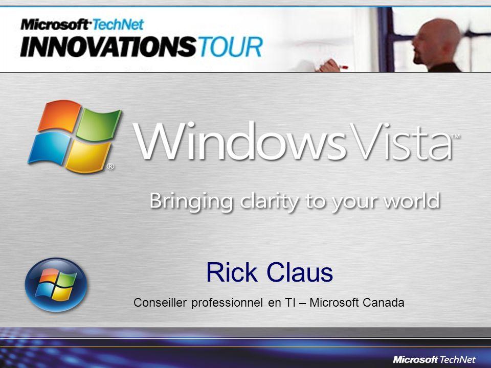 Rick Claus Conseiller professionnel en TI – Microsoft Canada