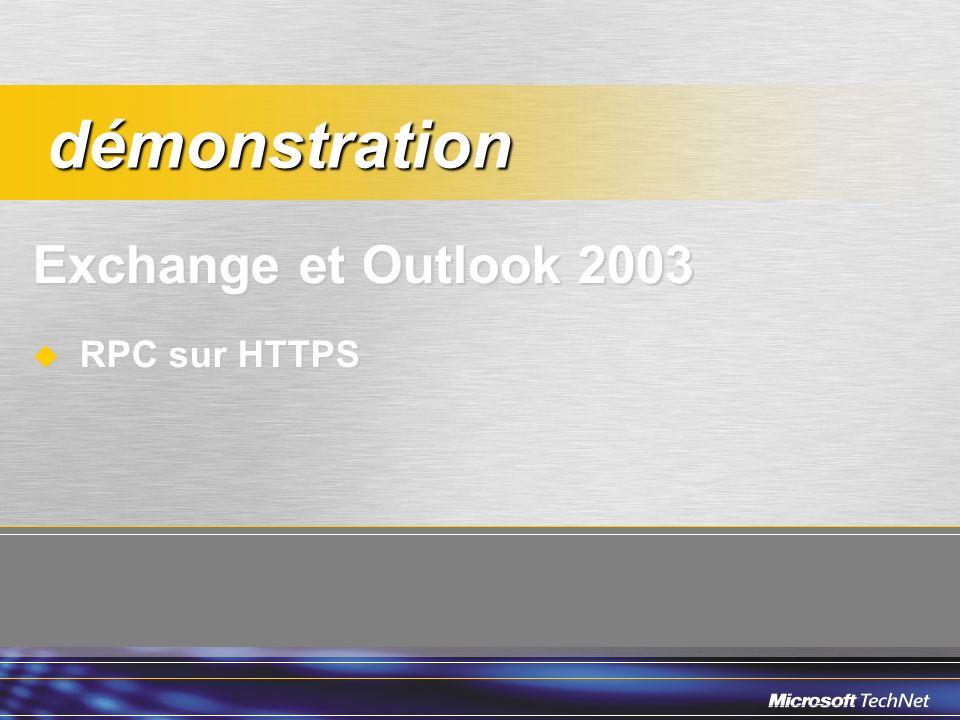 Exchange et Outlook 2003 RPC sur HTTPS RPC sur HTTPS démonstration démonstration