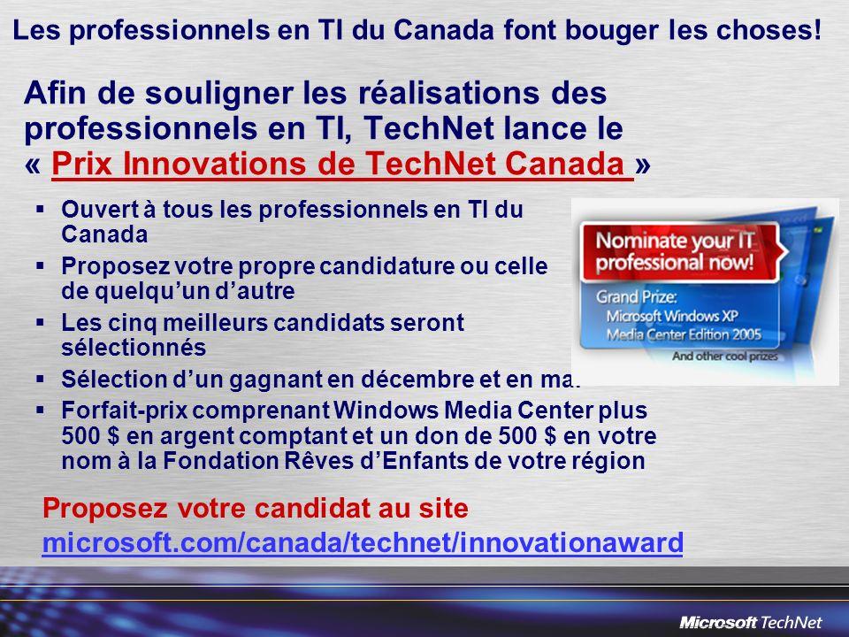 Les professionnels en TI du Canada font bouger les choses.