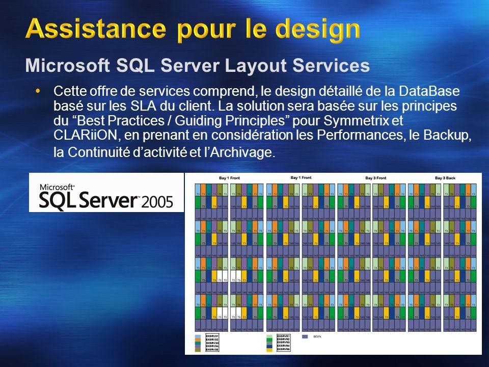Microsoft SQL Server Layout Services Cette offre de services comprend, le design détaillé de la DataBase basé sur les SLA du client. La solution sera