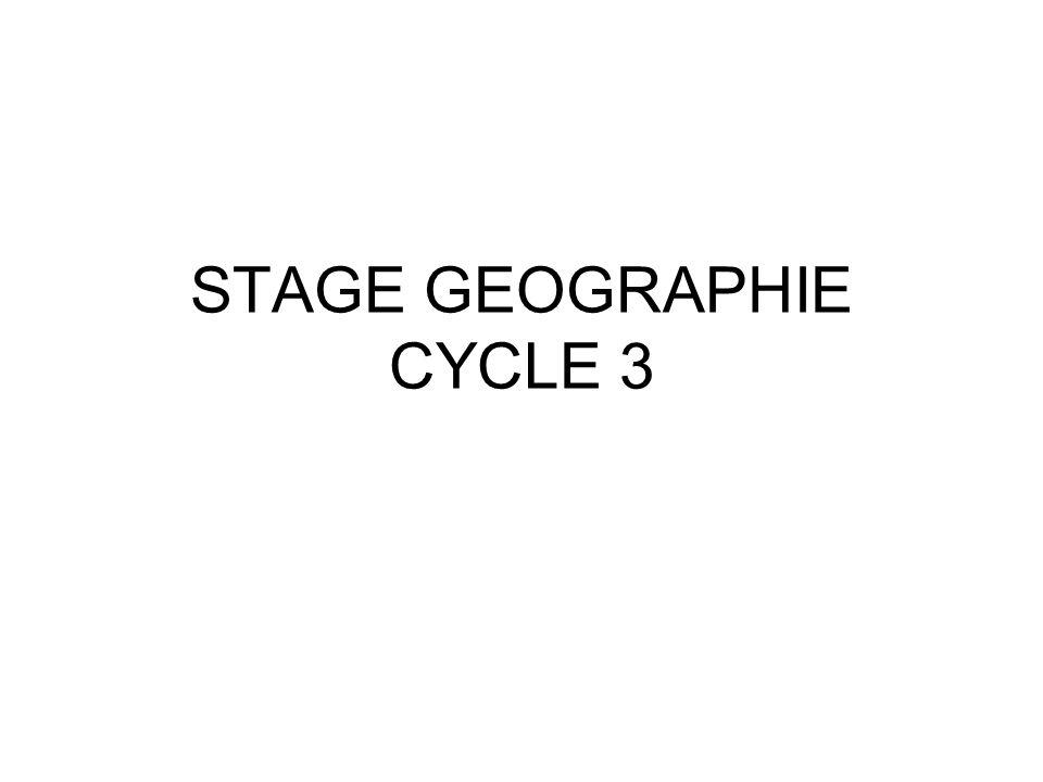 Géographie cycle 3 Le programme de géographie a pour objectifs de décrire et de comprendre comment les hommes vivent et aménagent leurs territoires.