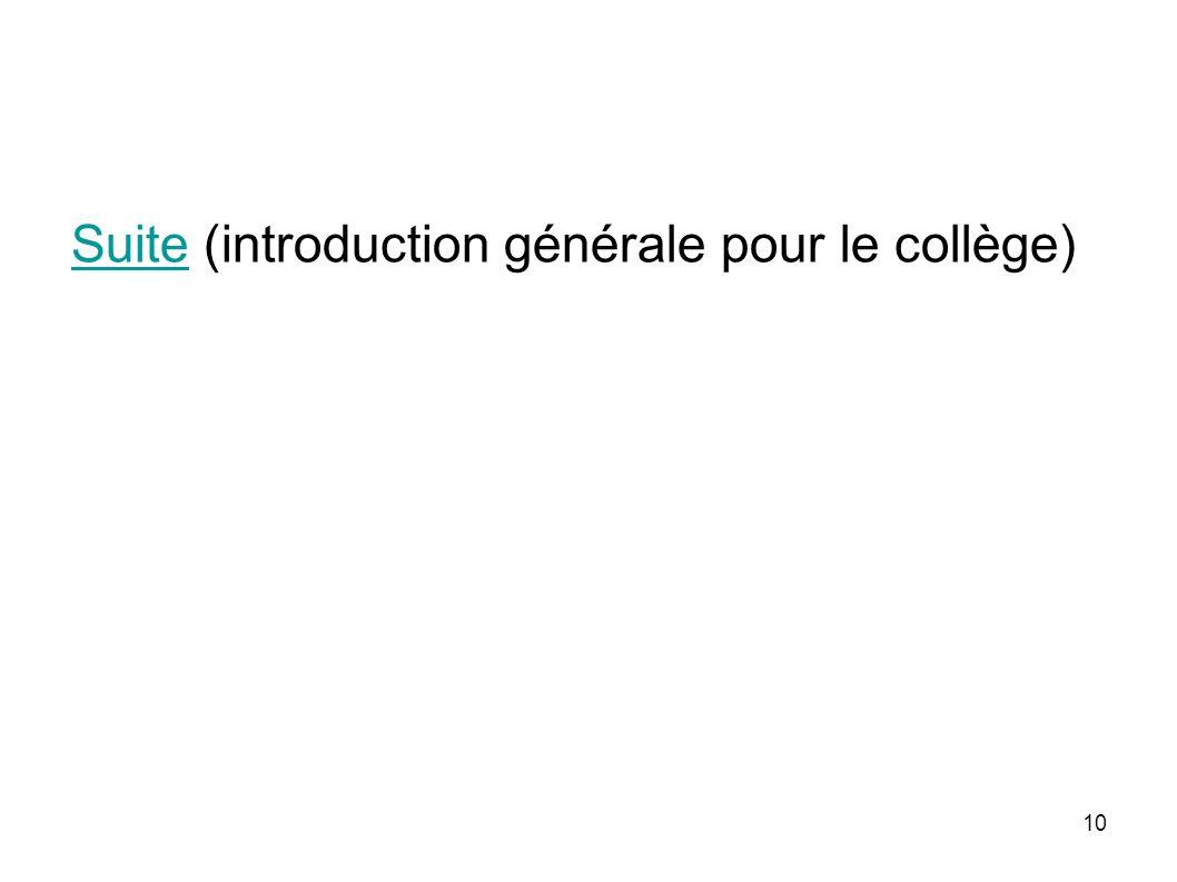 10 SuiteSuite (introduction générale pour le collège)