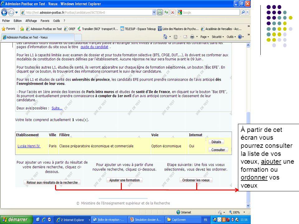 Exemple: Licence déconomie-gestion 1 2