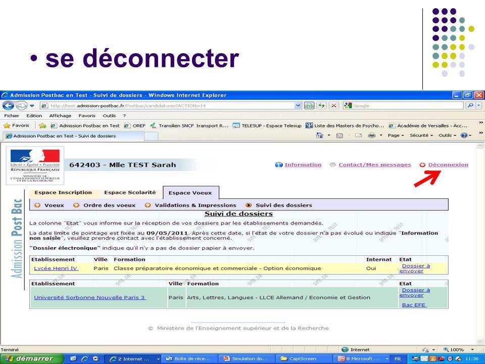 Se reconnecter à son dossier - Aller sur le site: www.admission-post bac.fr