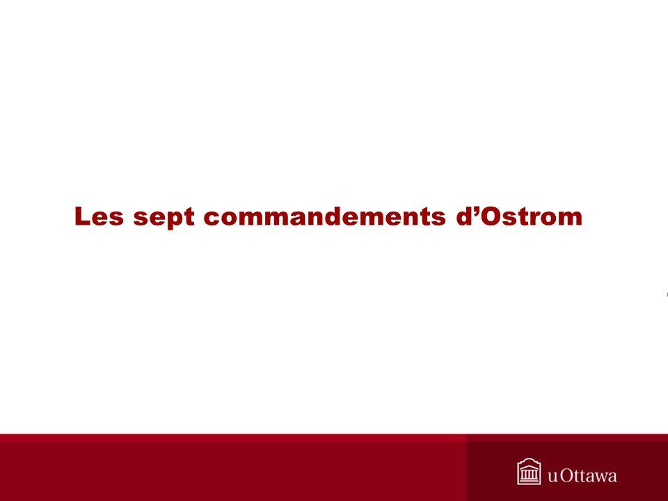 Les sept commandements dOstrom